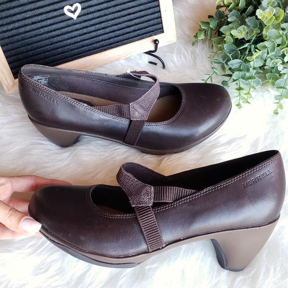 Merrell Shoes - NEW Merrell Brown Mary Jane Low Heel Sandals